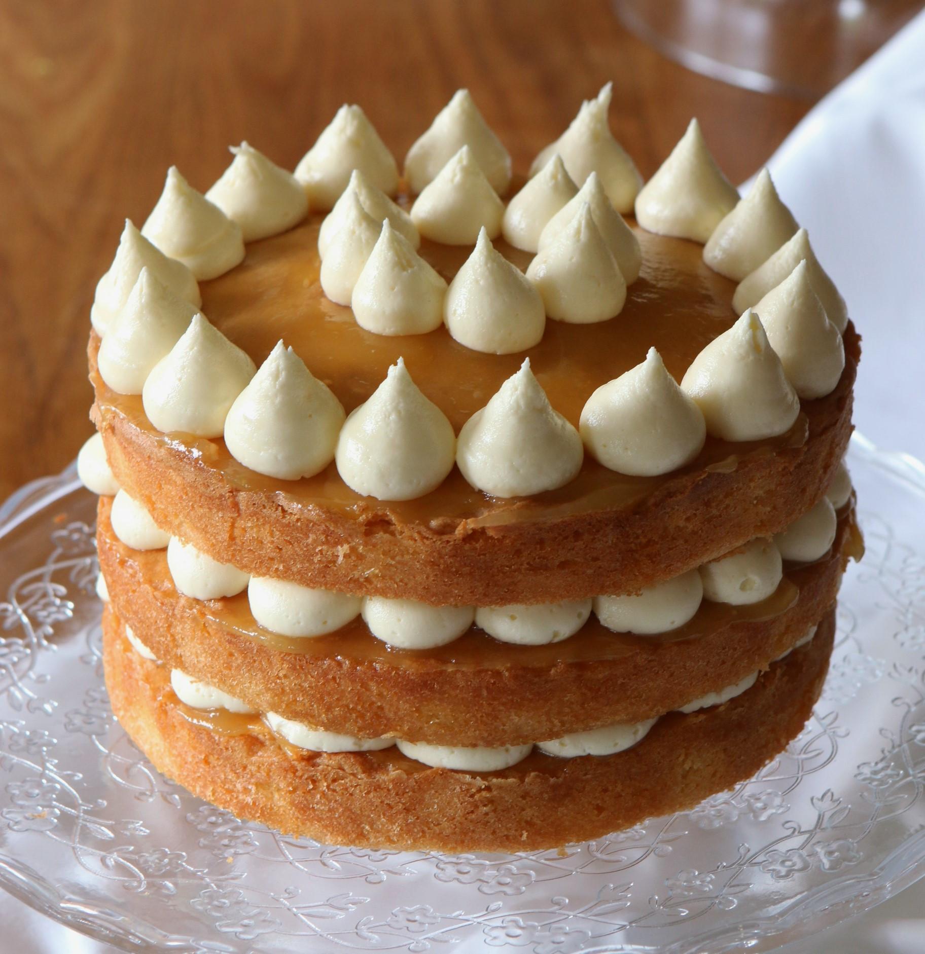 Lemon Layer Cake  lemon layer cake Recipes from a Normal Mum