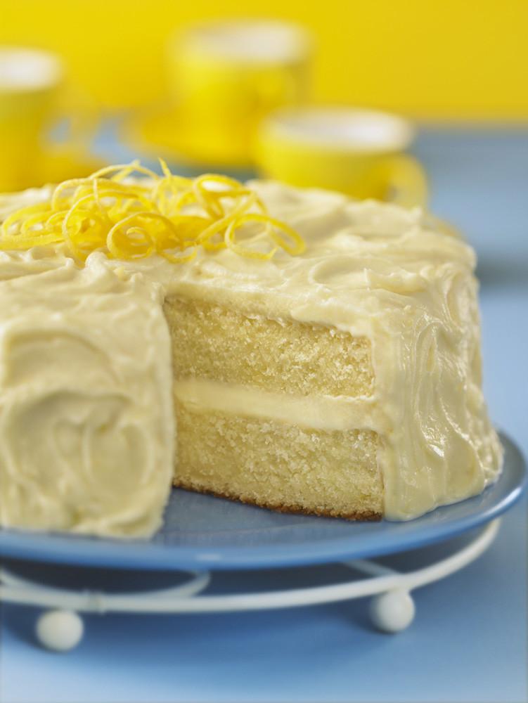 Lemon Layer Cake  Lemon Layer Cake Recipe — Dishmaps