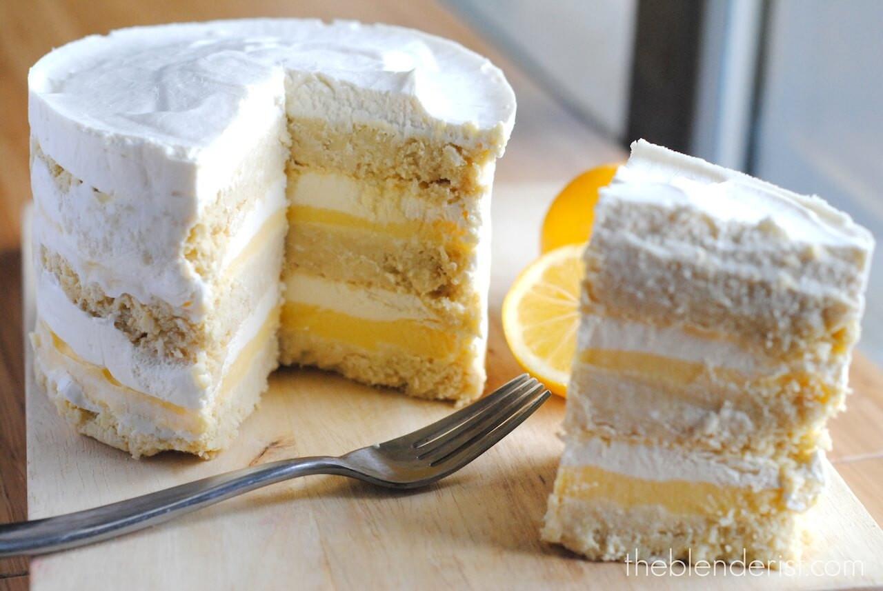 Lemon Layer Cake  Coconut Lemon Layer Cake Gluten Free and Sugar Free