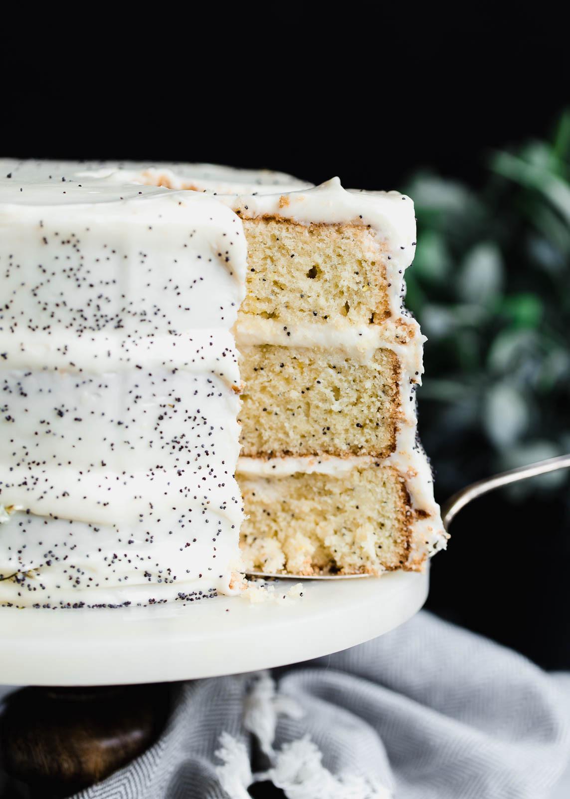 Lemon Poppyseed Cake  lemon poppy seed cake frosting