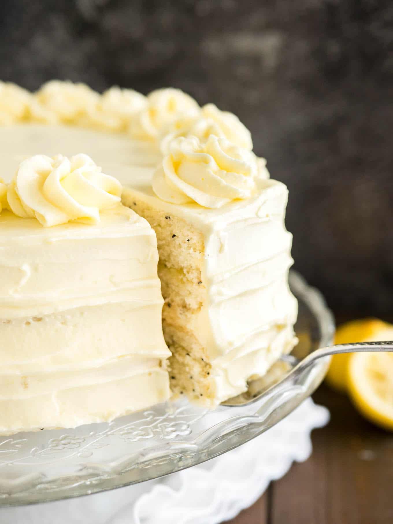 Lemon Poppyseed Cake  Lemon Poppy Seed Cake Recipe with Lemon Curd Frosting