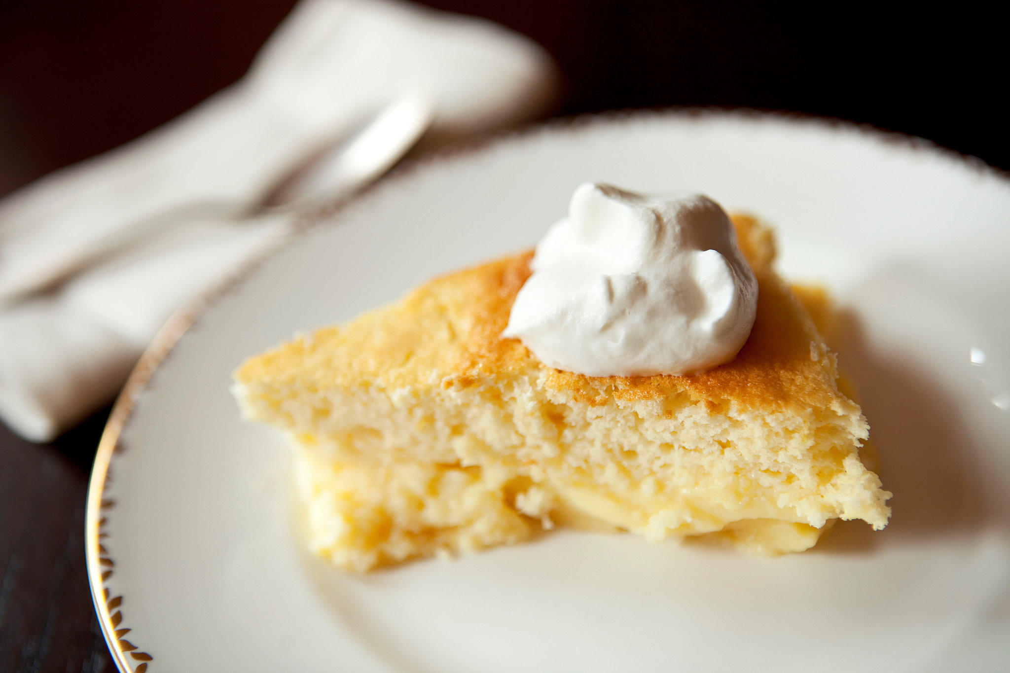 Lemon Pudding Cake Recipe  Moptu Katie Haspel Lemon Pudding Cake Recipe
