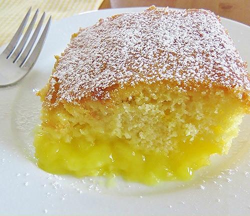 Lemon Pudding Cake Recipe  Warm Lemon Pudding Cake recipe