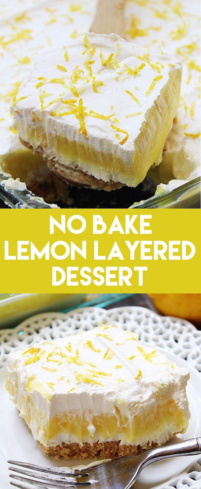 Lemon Pudding Dessert  No Bake Lemon Layered Dessert High Heels and Grills