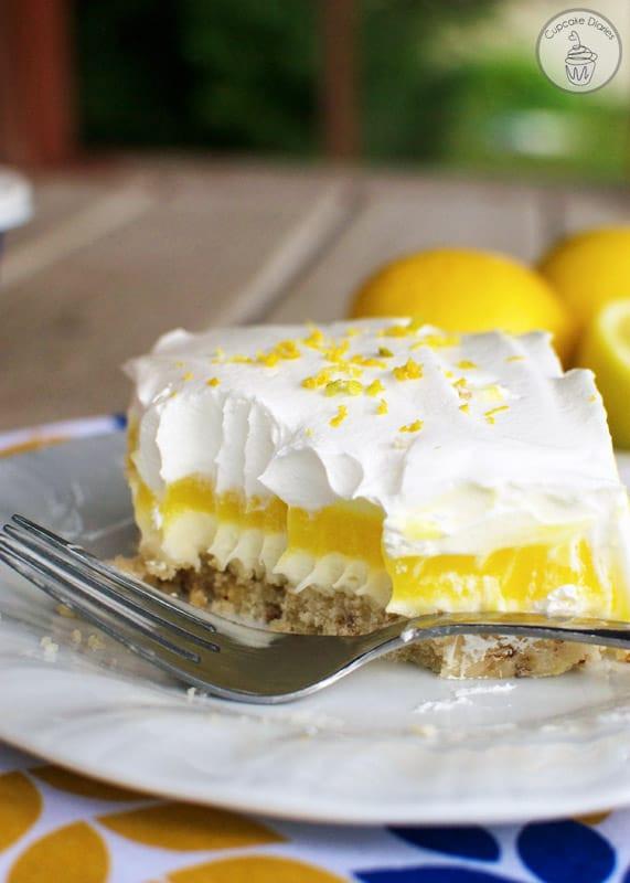 Lemon Pudding Dessert  Lemon Lush Dessert