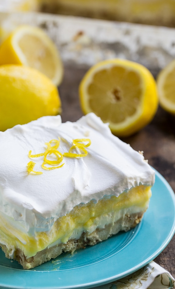 Lemon Pudding Dessert  lemon pudding dessert with graham cracker crust