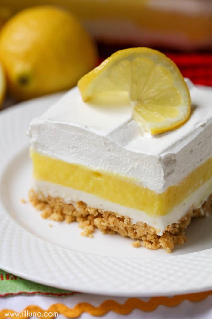 Lemon Pudding Desserts  Lemon Lasagna Lil Luna