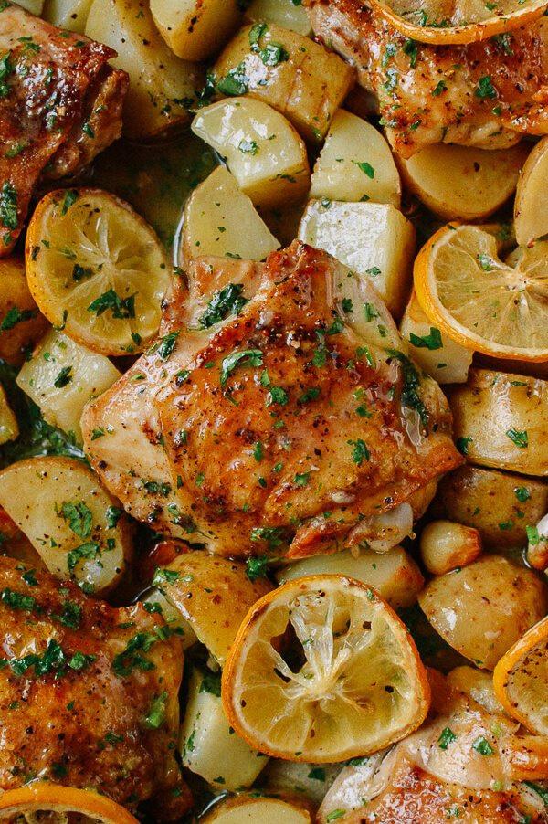 Lemon Roasted Chicken  baked lemon chicken thighs recipe