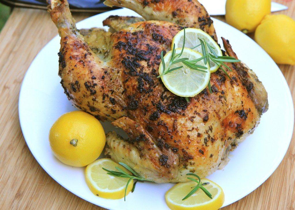 Lemon Roasted Chicken  Lemon Garlic & Rosemary Roasted Chicken Recipe