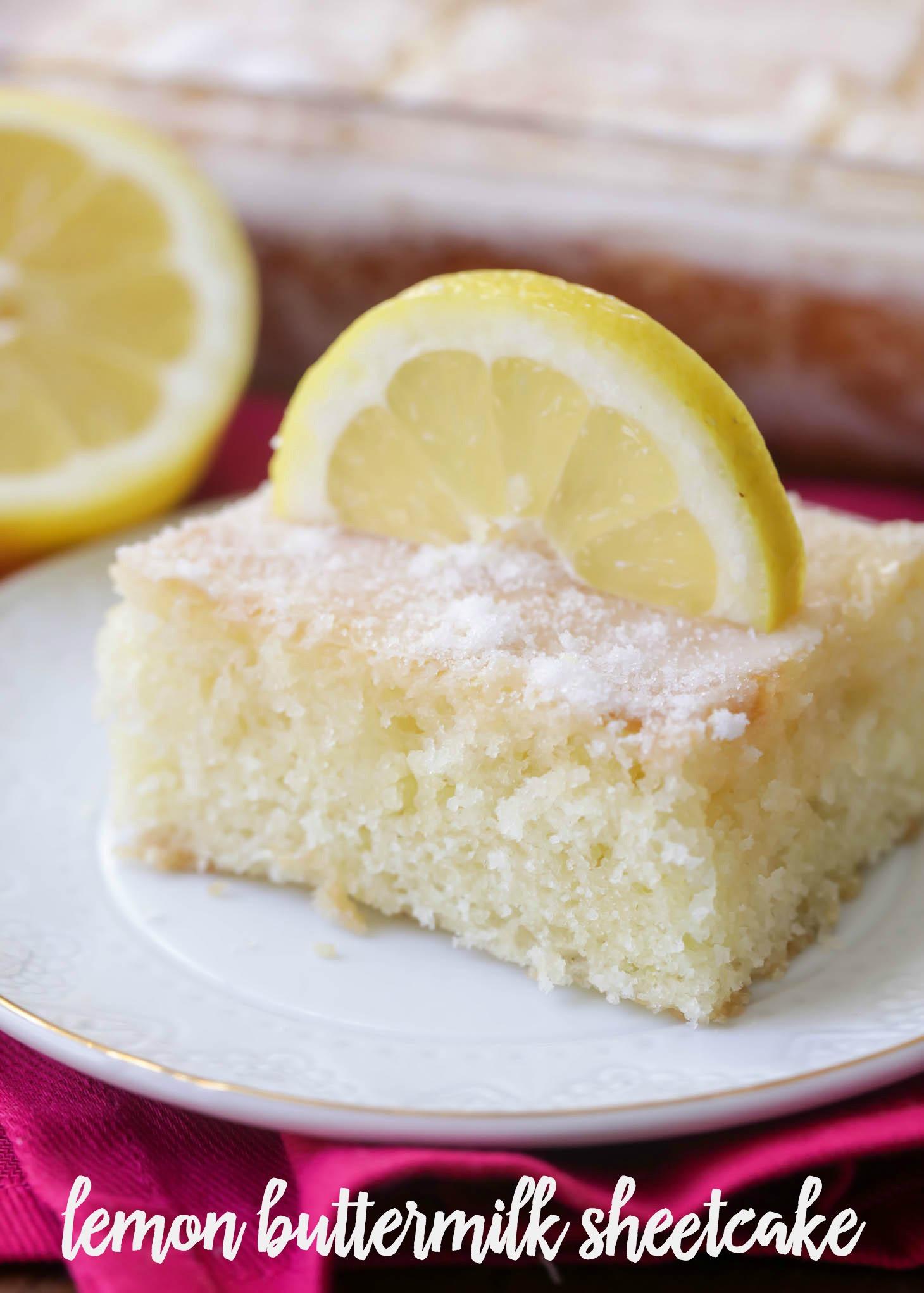 Lemon Sheet Cake  BEST Lemon Cake recipe