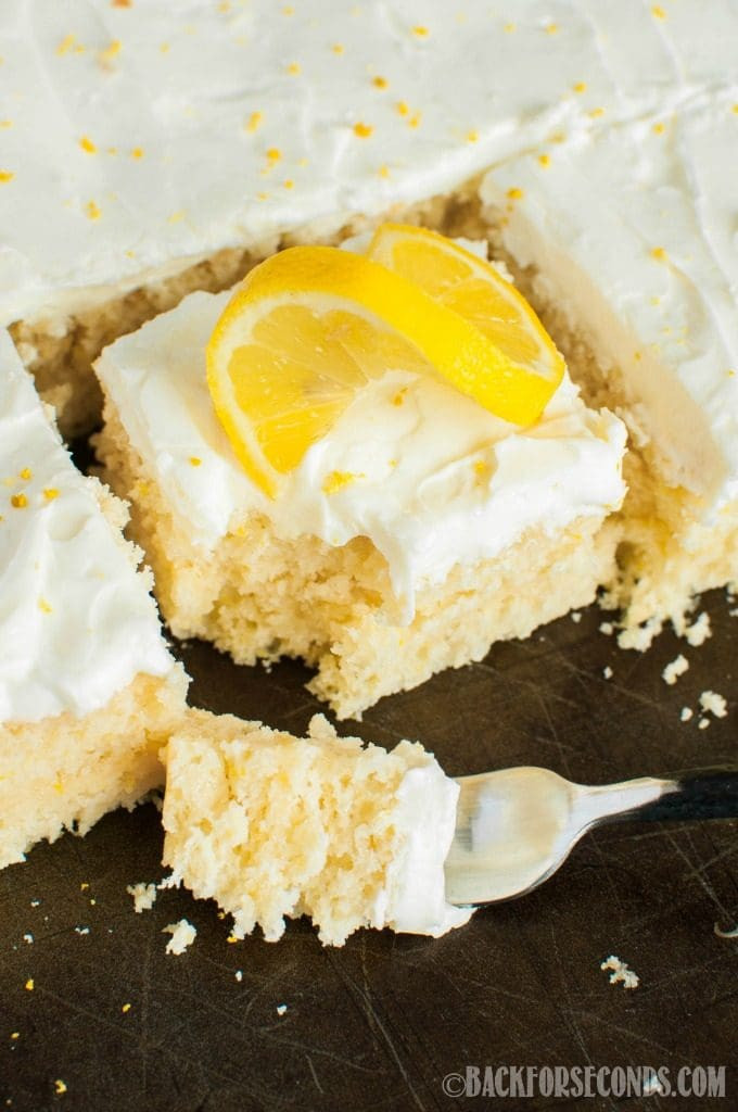 Lemon Sheet Cake  Lemon Sheet Cake with Lemon Cream Cheese Frosting Page 2