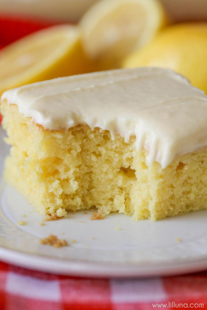 Lemon Sheet Cake  Lemon Sheet Cake Lil Luna