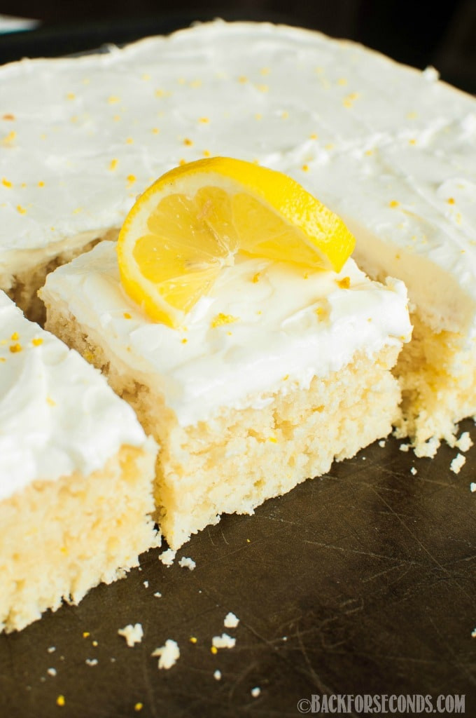 Lemon Sheet Cake  Lemon Sheet Cake with Lemon Cream Cheese Frosting Back