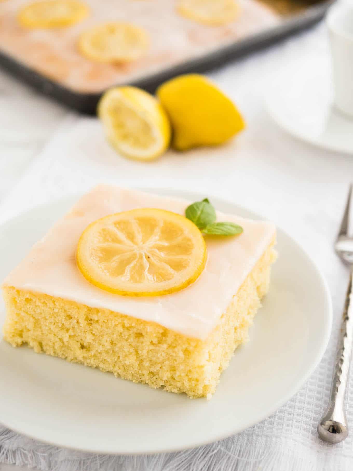 Lemon Sheet Cake  Easy Lemon Sheet Cake Recipe