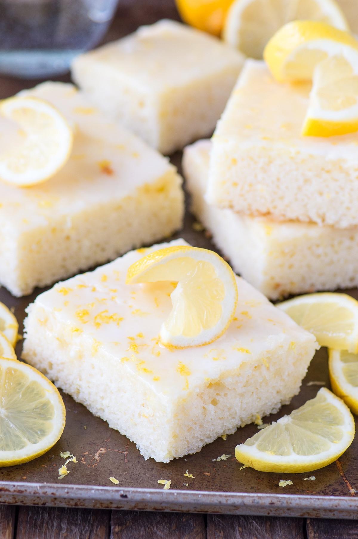Lemon Sheet Cake  Lemon Sheet Cake