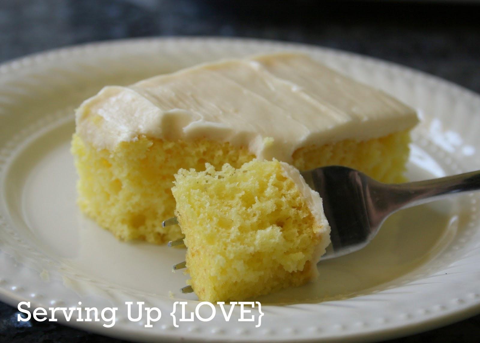 Lemon Sheet Cake  Katherine s Kitchen Serving Up Cake Lemon Sheet Cake