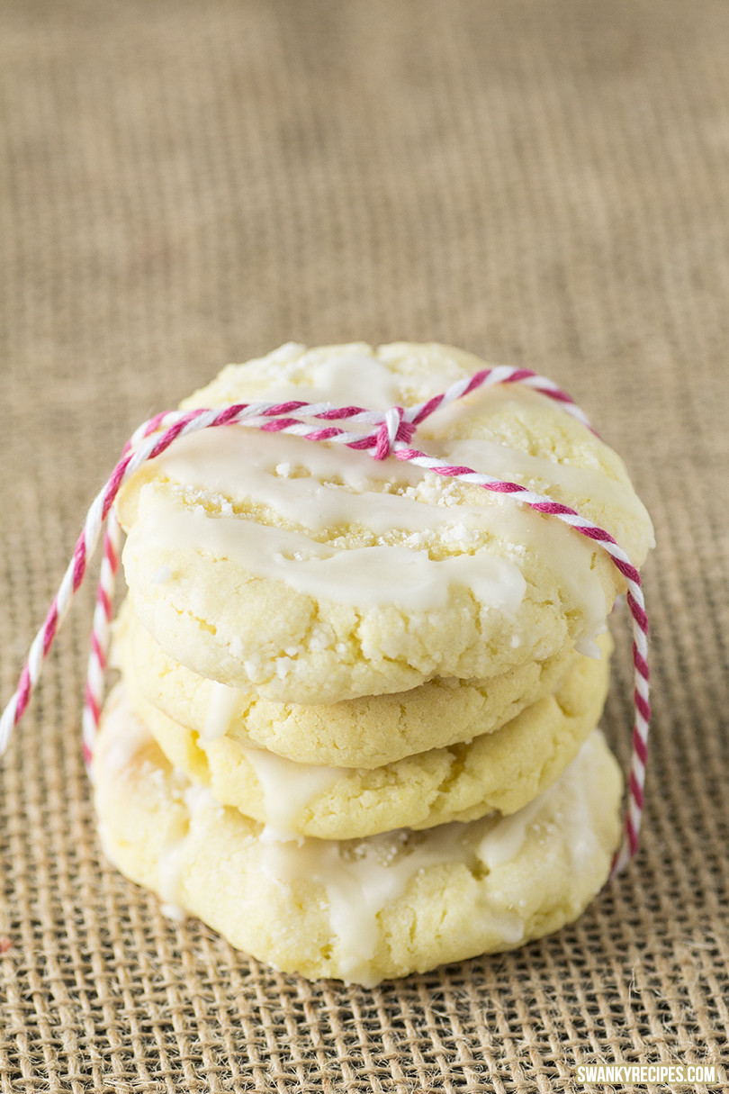 Lemon Sugar Cookies  Glazed Lemon Sugar Cookies Swanky Recipes