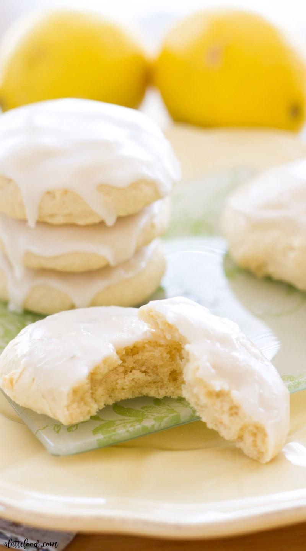 Lemon Sugar Cookies  Lemon Glazed Soft Baked Sugar Cookies