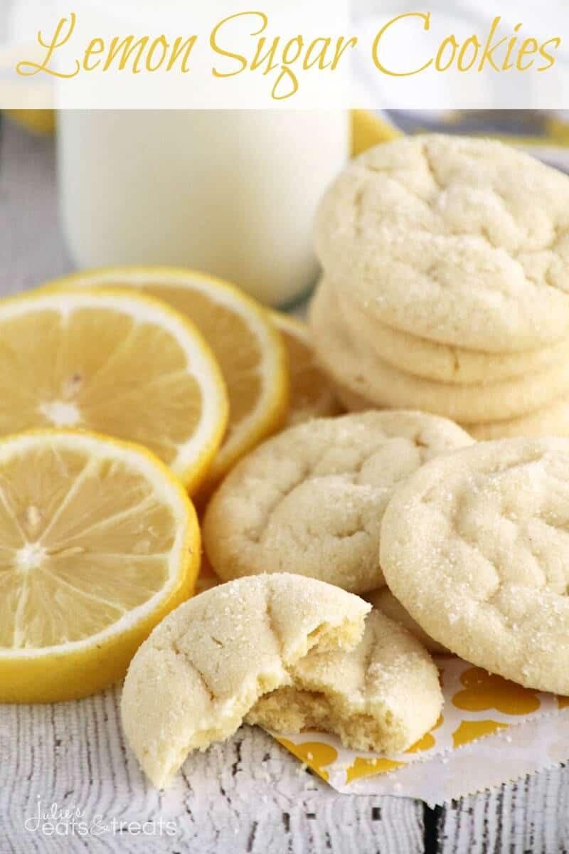 Lemon Sugar Cookies  Lemon Sugar Cookies Julie s Eats & Treats