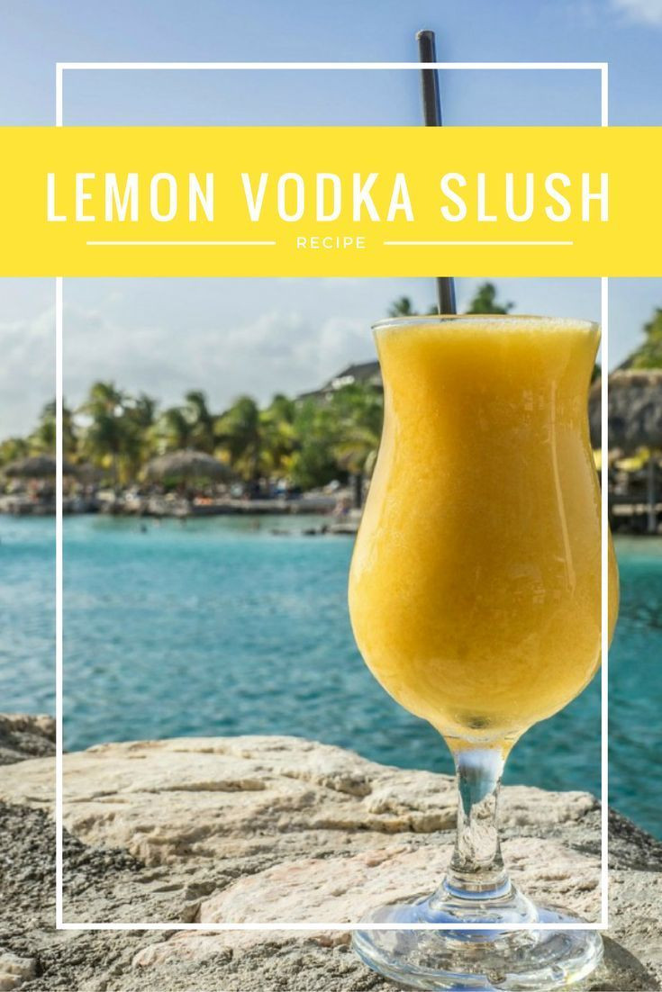 Lemon Vodka Drinks  Best 25 Vodka slush recipes ideas on Pinterest