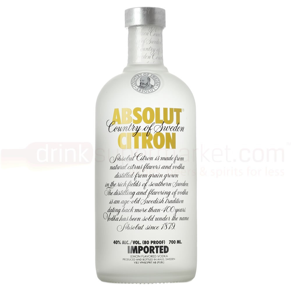 Lemon Vodka Drinks  Absolut Citron Lemon Vodka 70cl Buy Cheap Price line UK