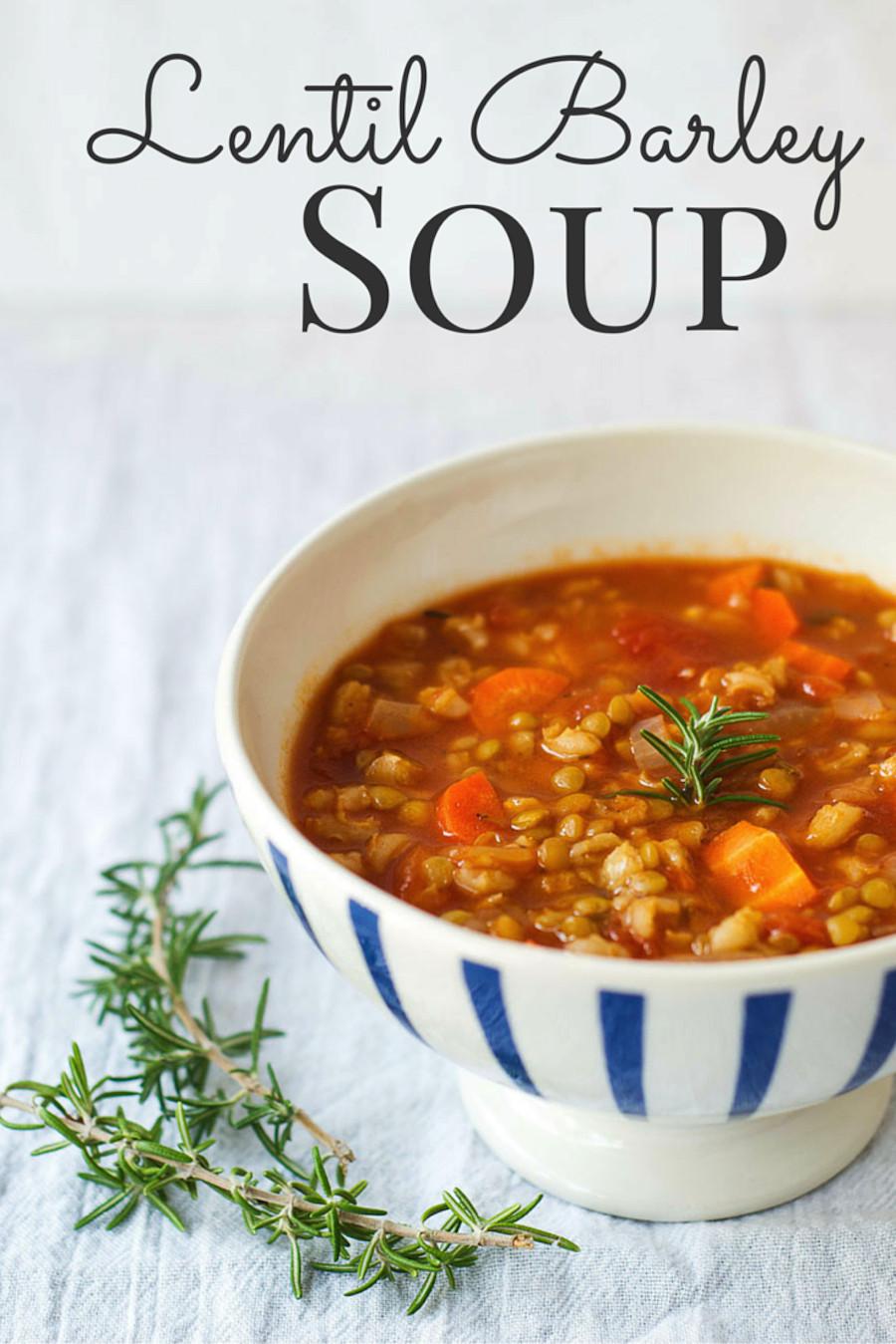 Lentil Barley Soup  Lentil Barley Soup Vegan The Wholesome Fork
