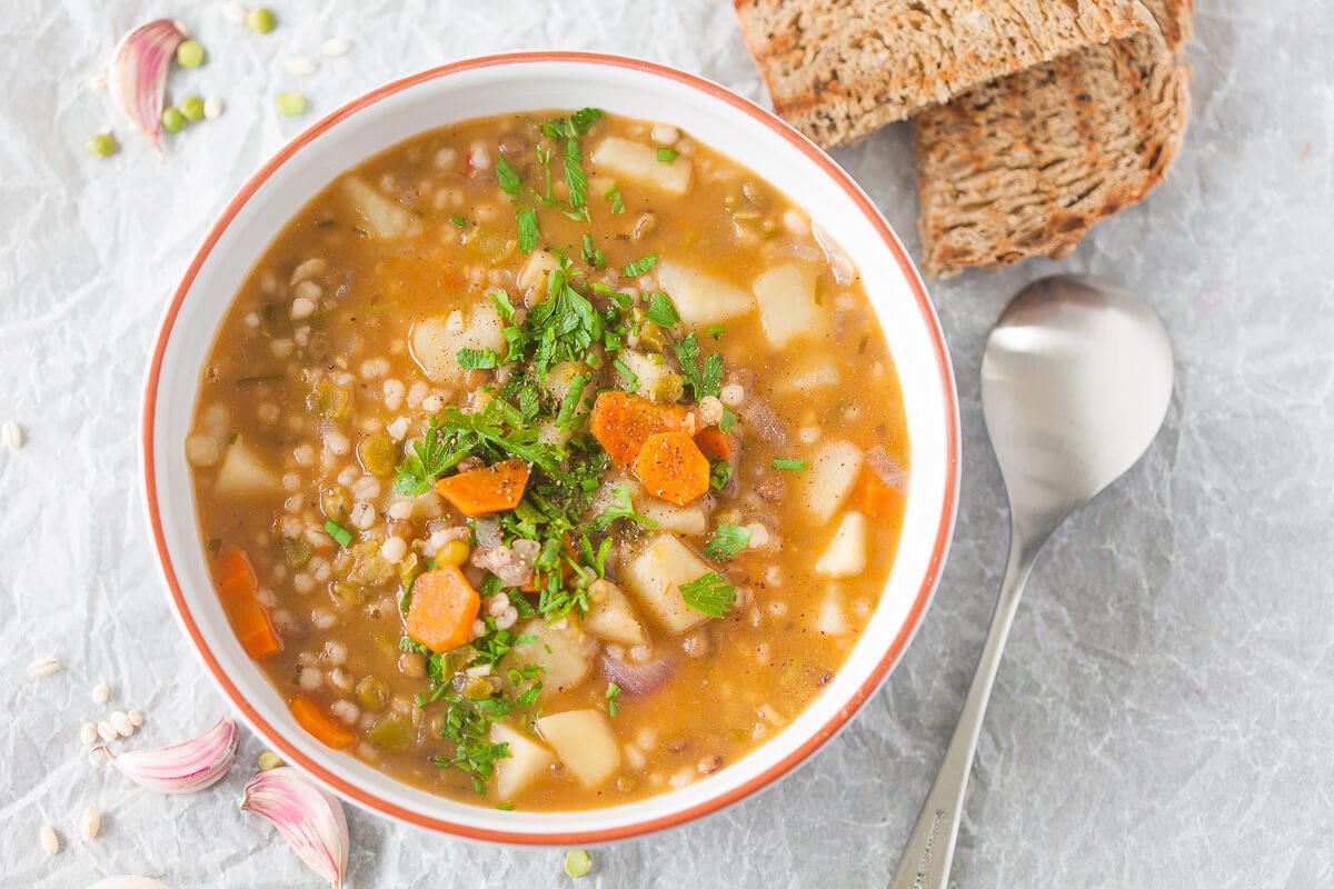 Lentil Barley Soup  Vegan Barley and Lentil Soup Vibrant Plate