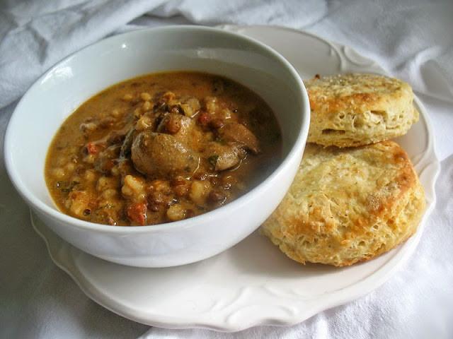 Lentil Barley Soup  Creamy Lentil Barley and Mushroom Soup