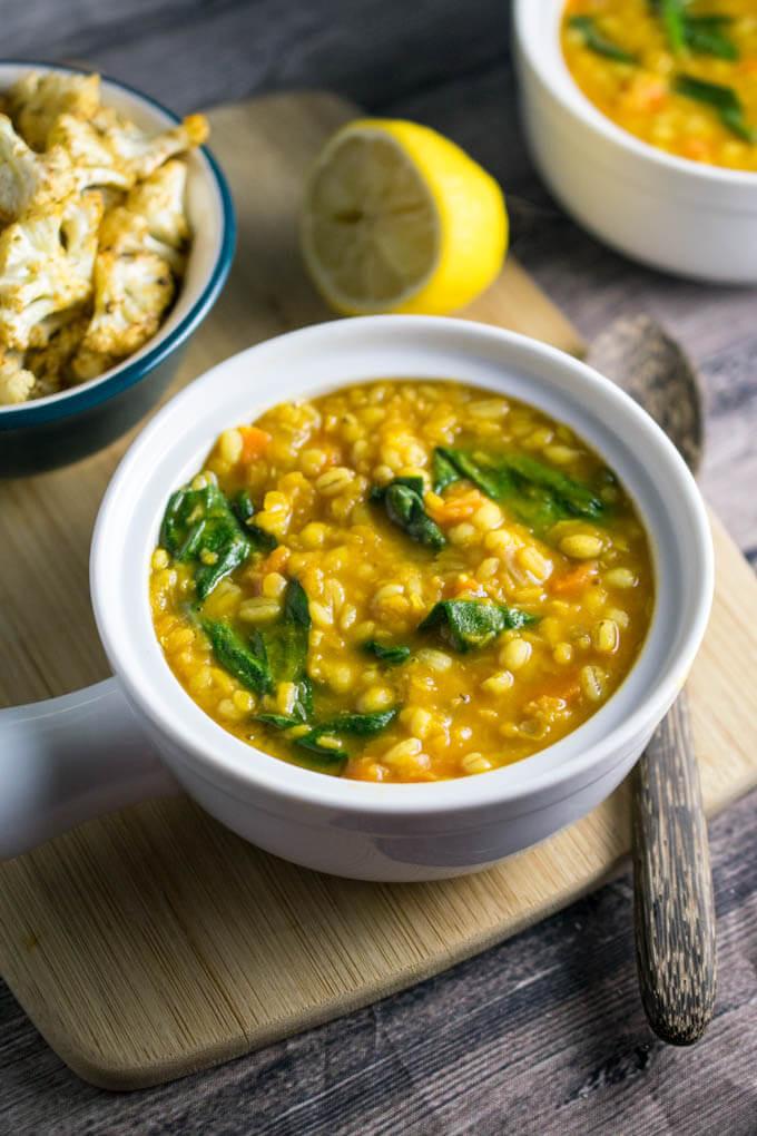 Lentil Barley Soup  Golden Lentil Barley Soup