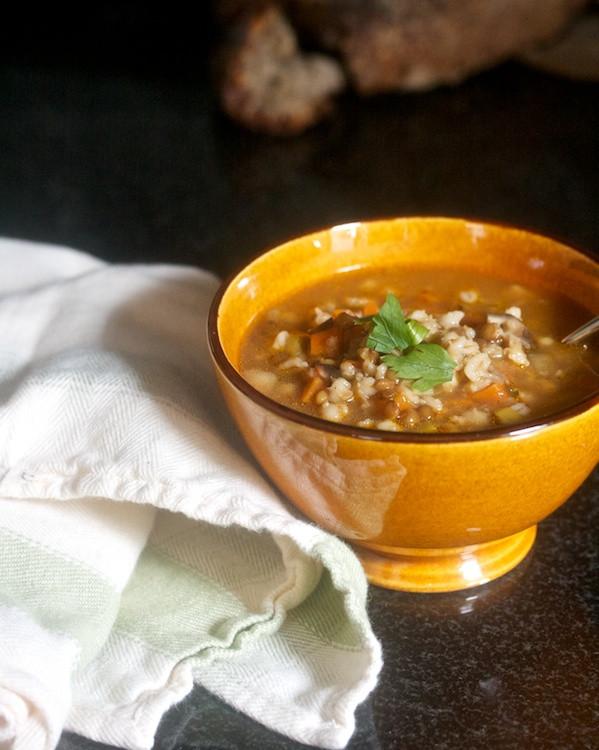 Lentil Barley Soup  Lentil & Barley Soup with Mushrooms Big Girls Small Kitchen