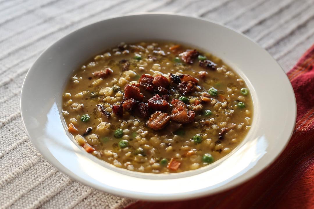 Lentil Barley Soup  Split Pea Lentil and Barley Soup Ang Sarap