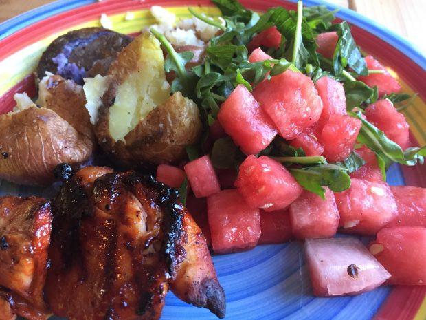 Let'S Potato Chips  Paleo Watermelon Arugula Salad Oh Snap Let s Eat