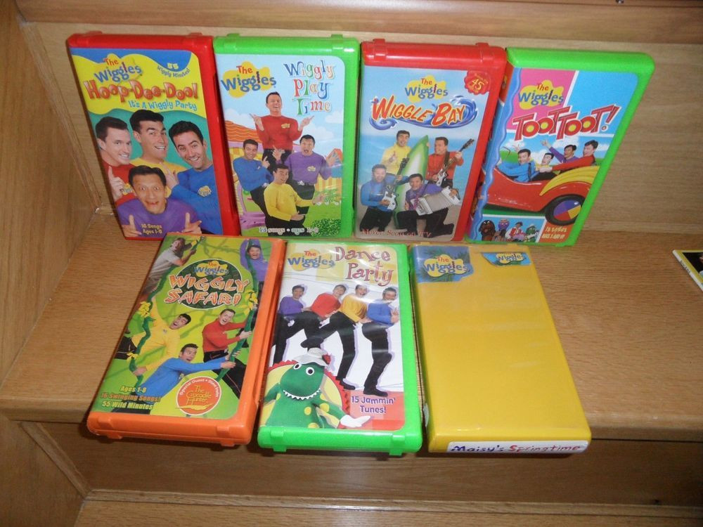 Let'S Potato Chips  The WIGGLES 7 VHS Toot Toot Hoop Dee Doo Wiggly Play Time