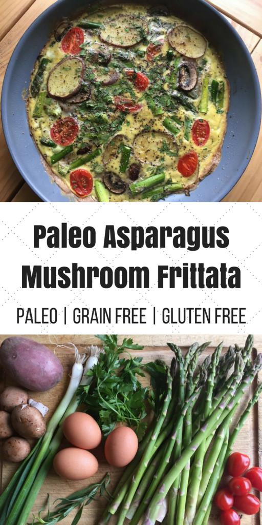 Let'S Potato Chips  Paleo Asparagus Mushroom Frittata Oh Snap Let s Eat