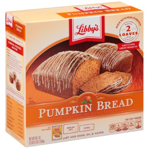 Libbys Pumpkin Bread  Libby s Pumpkin Bread Kit with Icing 56 1 Oz