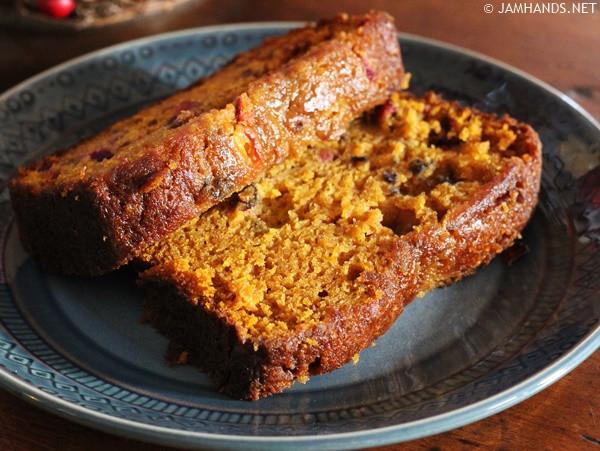 Libbys Pumpkin Bread  Jam Hands Libby s Ridiculously Moist Pumpkin Cranberry Bread