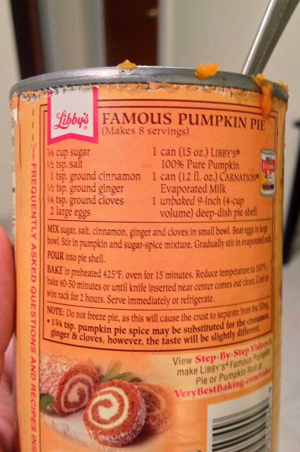Libbys Pumpkin Pie Recipe  Pumpkin Pie Recipe Husband Special The ULTIMATE Man Made
