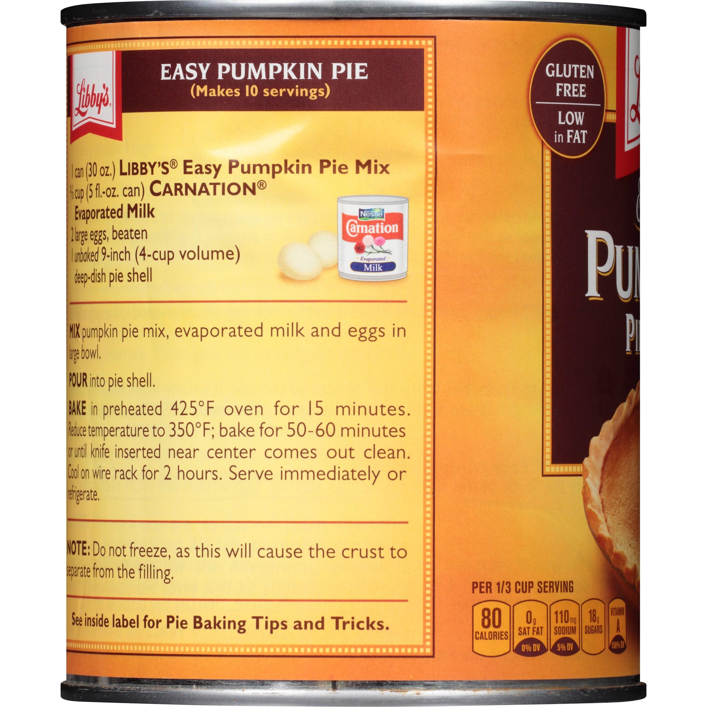 Libbys Pumpkin Pie Recipe  libby s canned pumpkin pie recipe