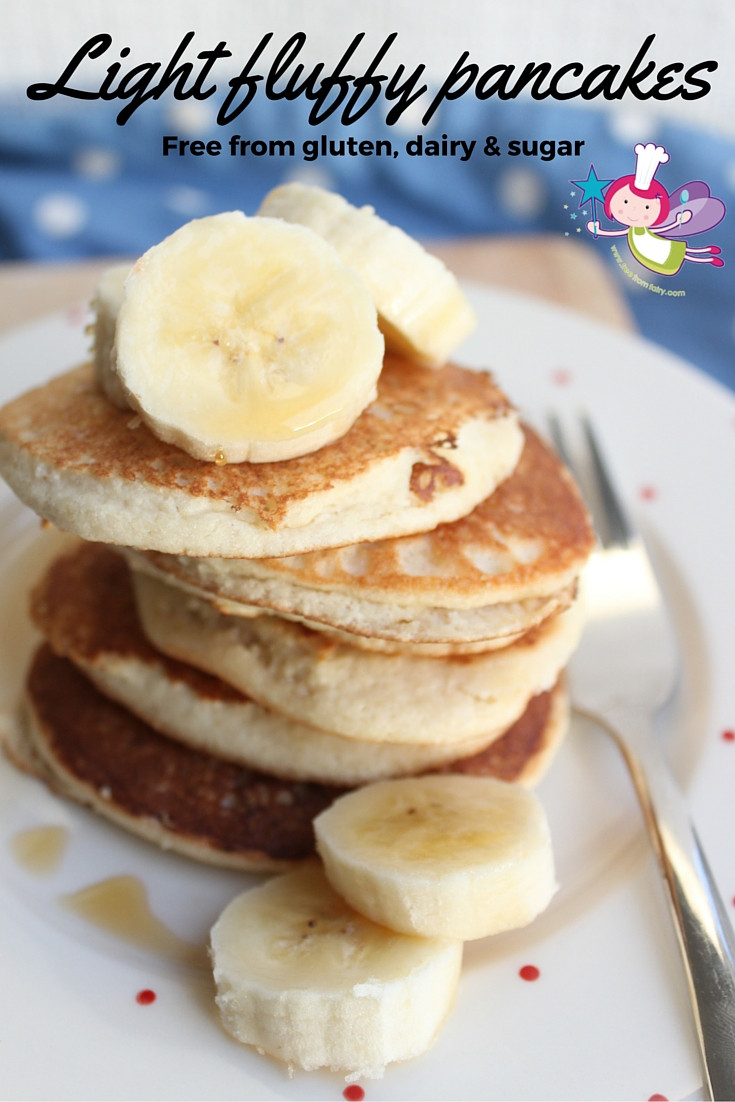 Light And Fluffy Pancakes  Marzipan Pancakes Grain free Dairy free Refined