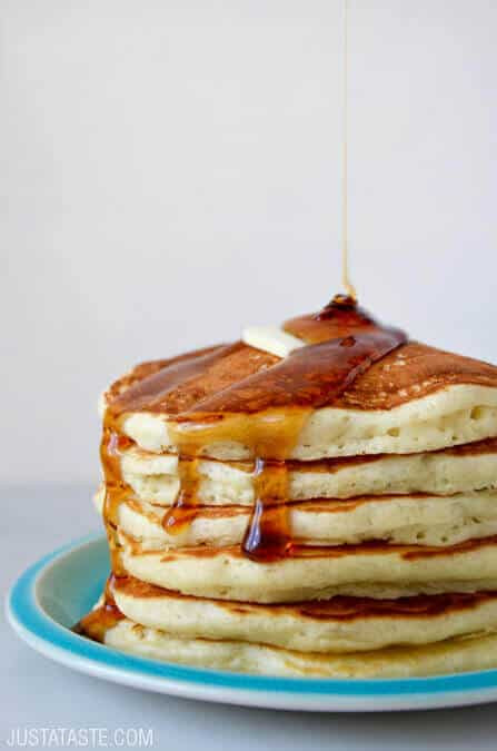 Light And Fluffy Pancakes  Just a Taste