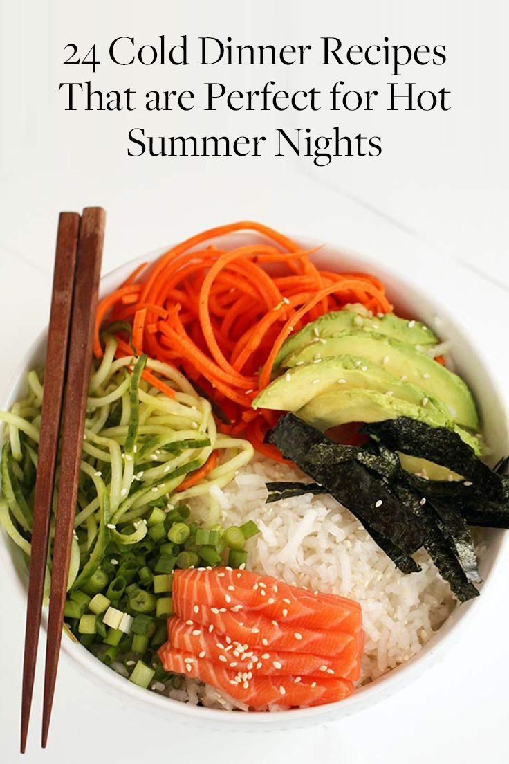 Light Dinner Ideas For Summer  25 best ideas about Cold Summer Dinners on Pinterest