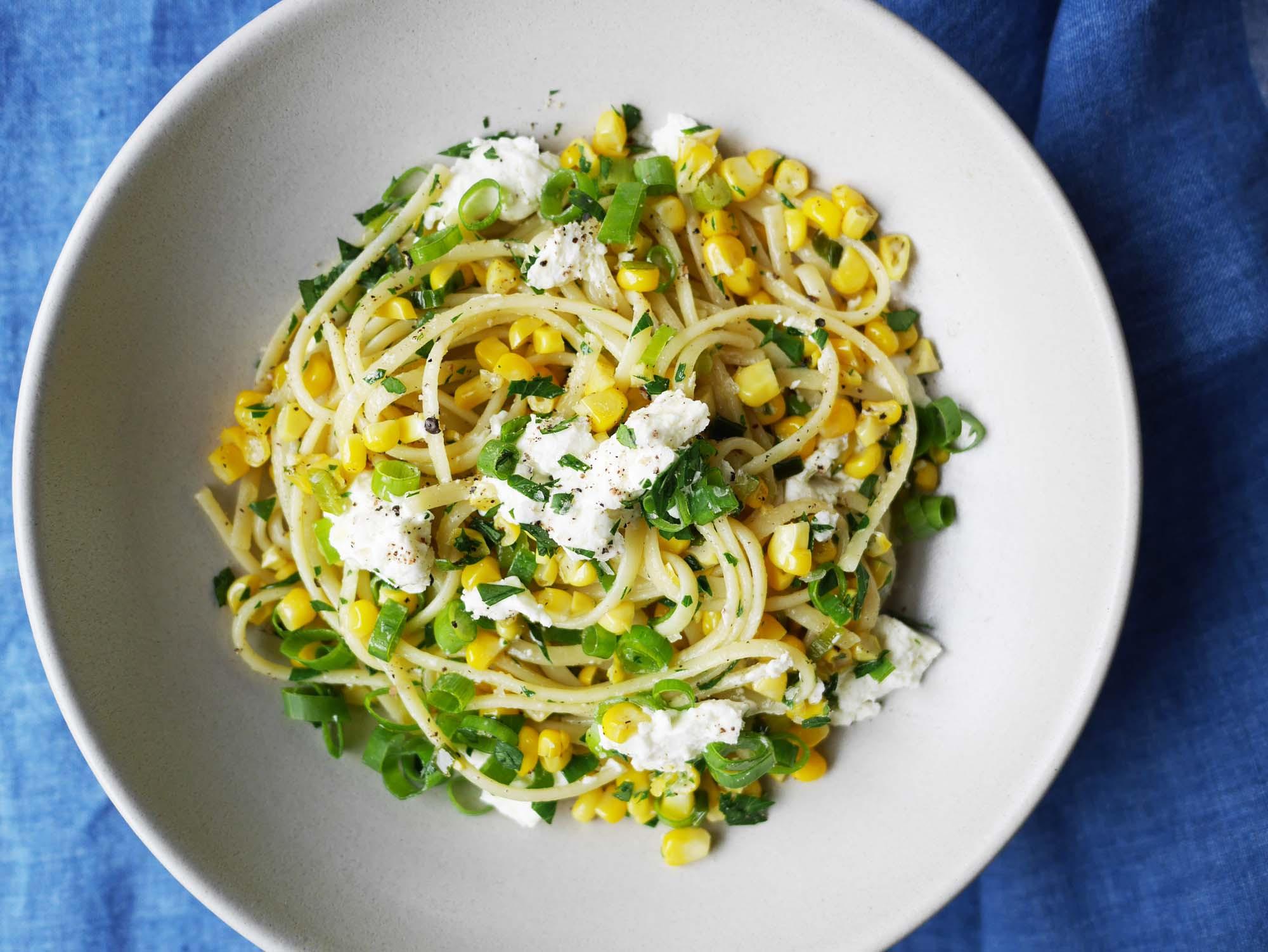 Light Dinner Ideas For Summer  pasta close up