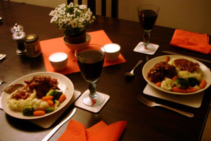 Light Dinner Ideas For Two  Romantic Dinner For Two At Home World The colors are