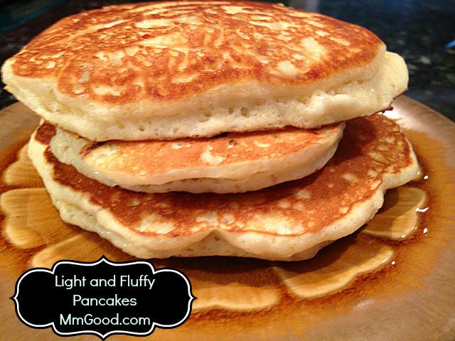 Light Fluffy Pancakes  A light & fluffy pancake that tastes amazing with a secret