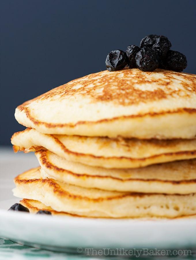 Light Fluffy Pancakes  Light Fluffy Lemon Ricotta Pancakes The Unlikely Baker