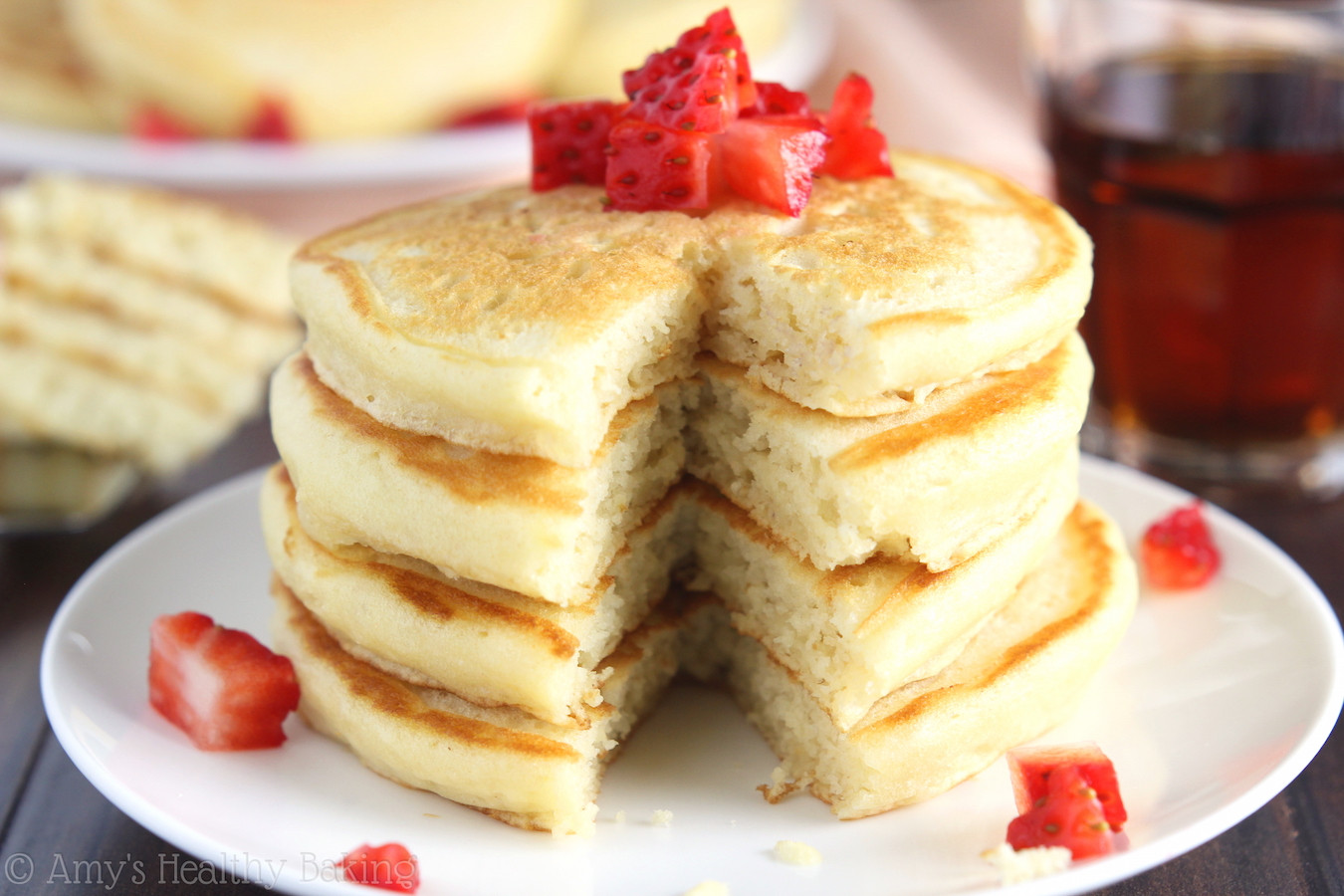 Light Fluffy Pancakes  The Ultimate Healthy Buttermilk Pancakes