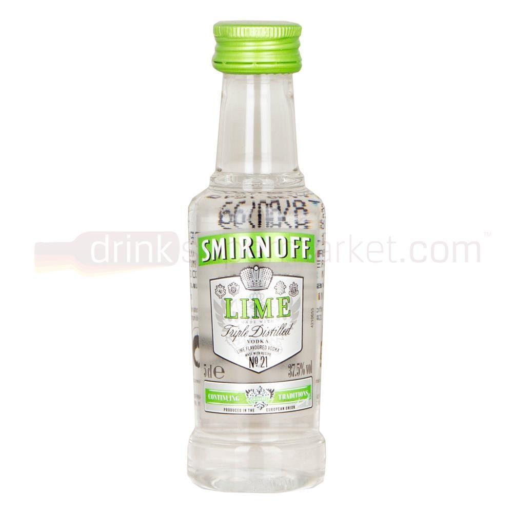 Lime Vodka Drinks  Smirnoff Lime Russian Vodka 5cl Miniature Buy Cheap