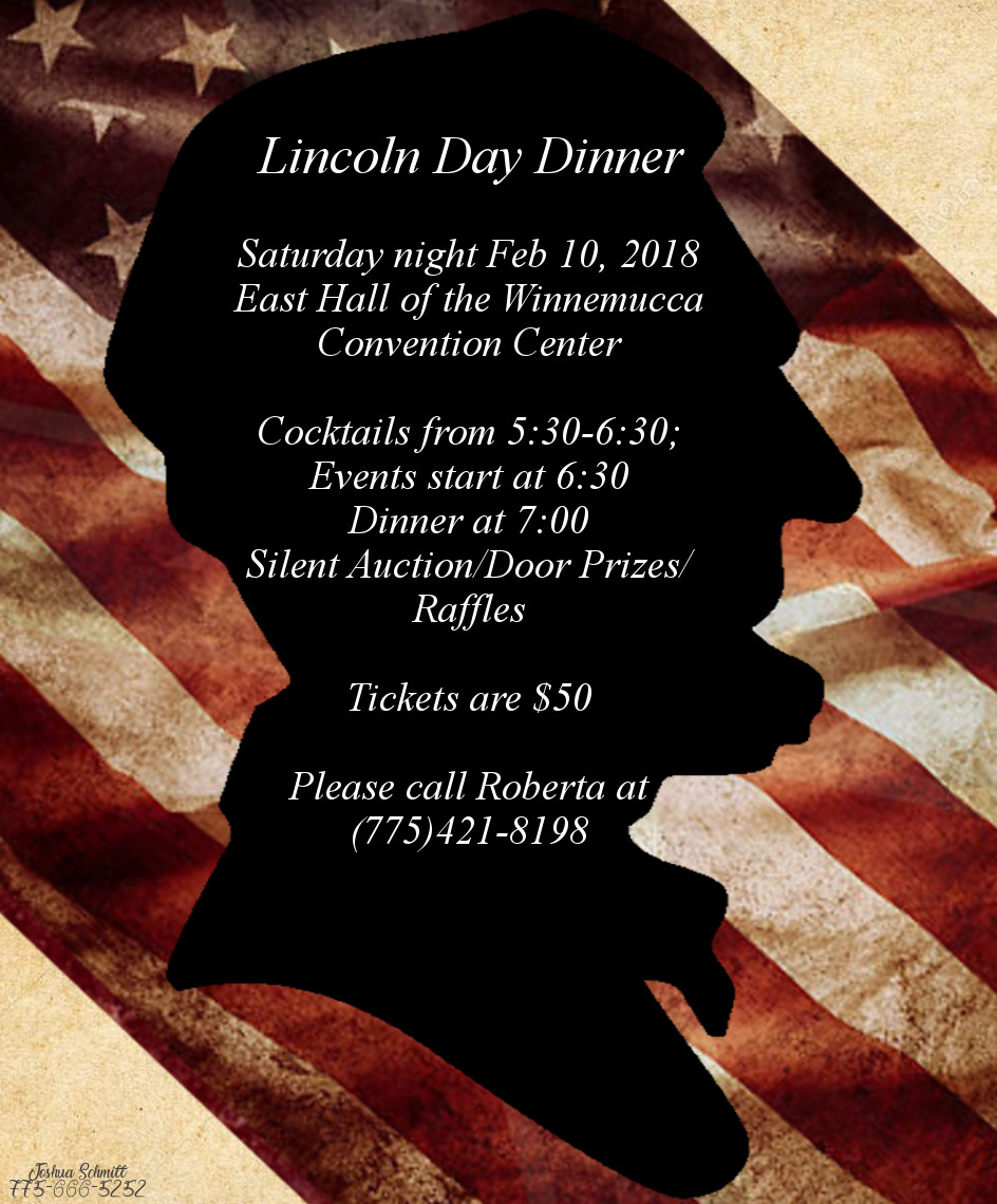 Lincoln Day Dinner  Humboldt County Lincoln Day Dinner Nevada Republican Party
