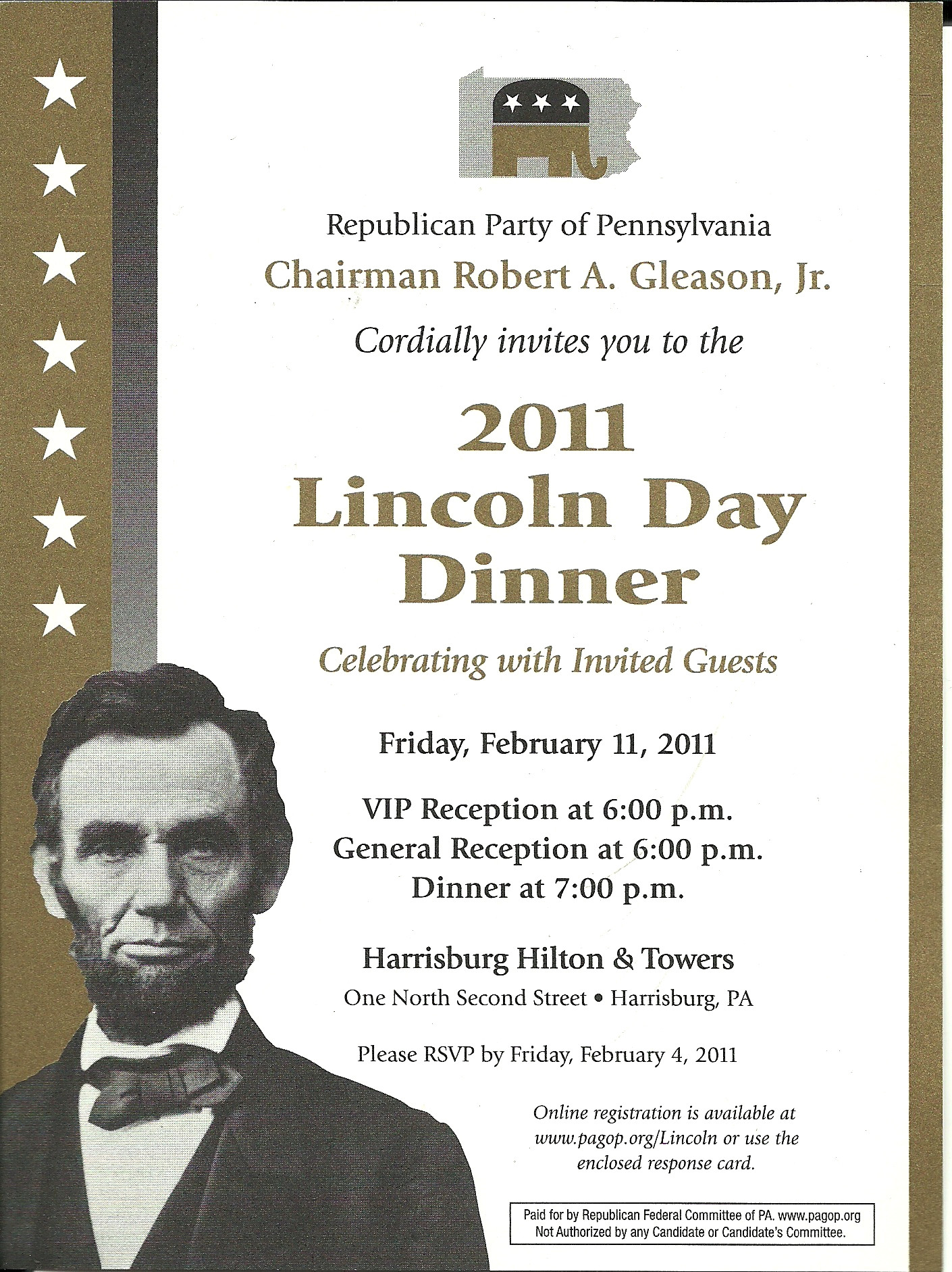 Lincoln Day Dinner  2011 PA GOP Lincoln Day Dinner