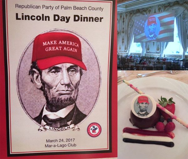 Lincoln Day Dinner  Chelsea Clinton flips out over Trump hat on Lincoln